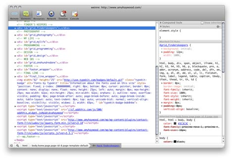 web developer tools for chrome
