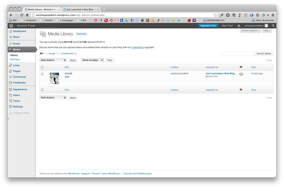 Wordpress - Media Library