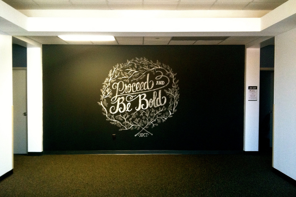 Chalk Art - Proceed and Be Bold - Wide image