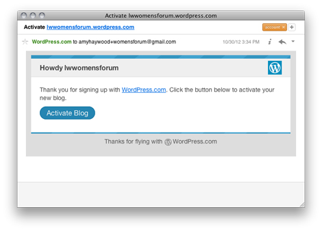 Wordpress - Email Confirmation