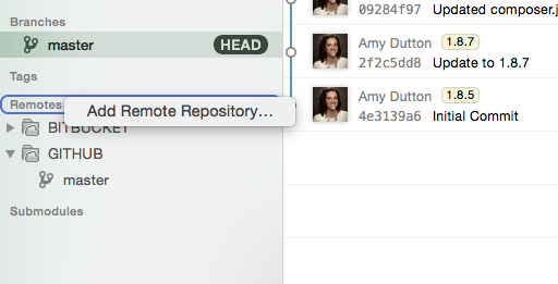 Adding a remote repository in Tower